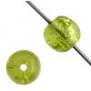 Glass Bead Cracked 6mm Round Olivine